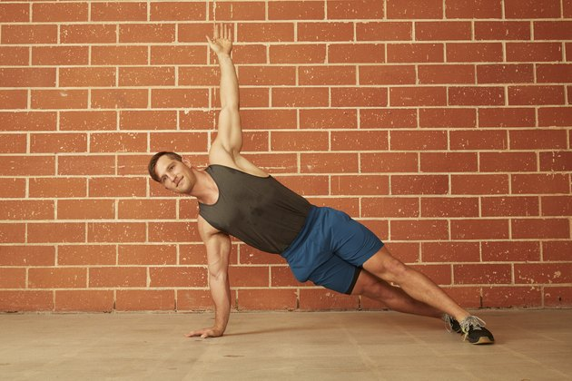 man demonstrating how to do a Warrior Push-Up