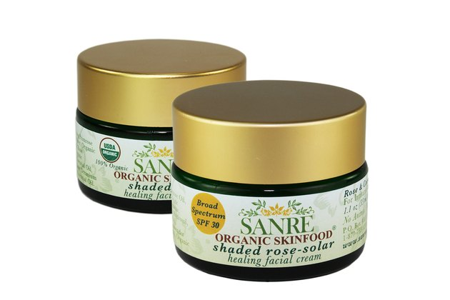 SanRe Organic Skinfood Shaded Rose Solar Calming Facial Cream SPF 30