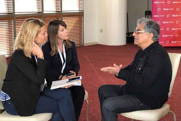 LIVESTRONG's Jess Barron and Michelle Vartan interview Deepak Chopra