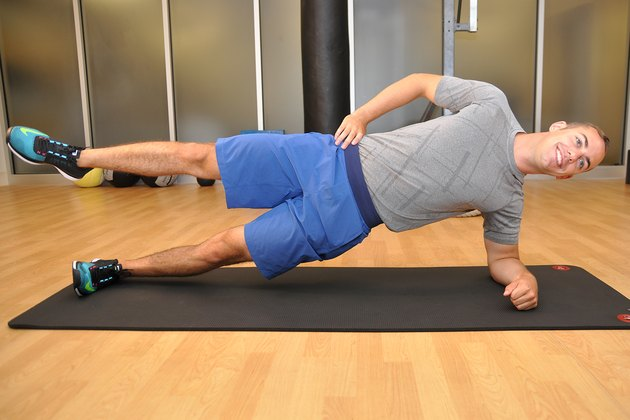 Henry Halse demonstrates the Side Plank Leg Raise