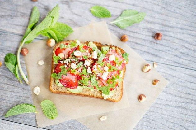Strawberry and Mint Avocado Toast