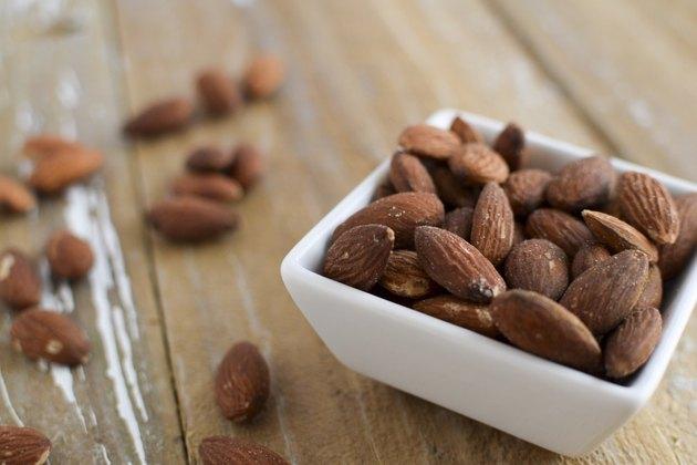 almonds in a dish