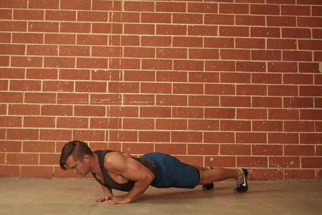 man demonstrating how to do a Diamond Push-Up