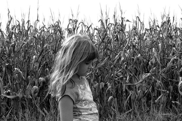 Child in cornfield near Jackson, Missippi.