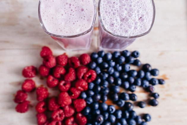 Protein shakes are an easy way to boost your calorie intake.