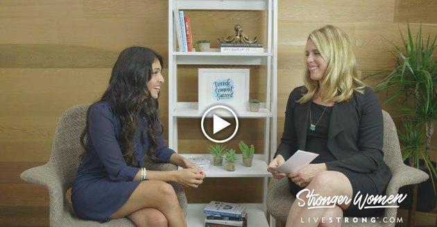 ClassPass founder Payal Kadakia being interviewed by LIVESTRONG.COM Sr. Editor Michelle Vartan.