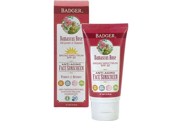 Badger Face Sunscreen Lotion SPF 25 Damascus Rose
