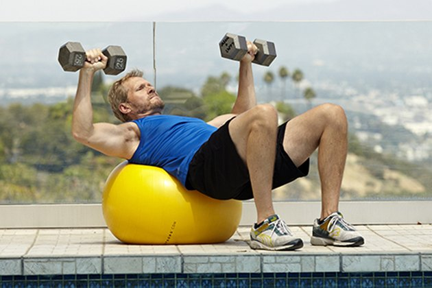 Add more core activation with a stability ball.