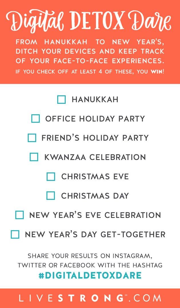 Holiday Digital Detox Dare Checklist