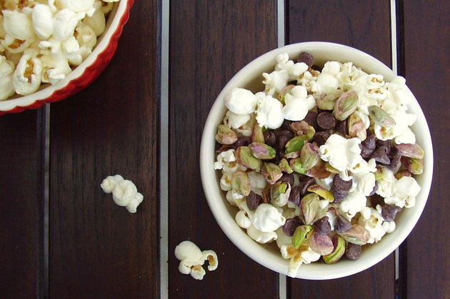 Healthy snack popcorn snack mix
