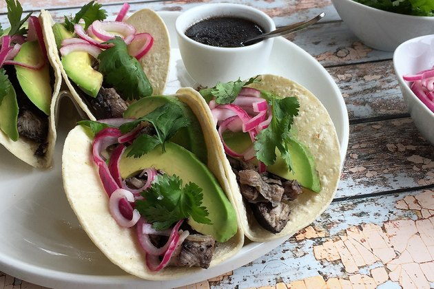 Pulled Pork Tacos With Pickled Onions