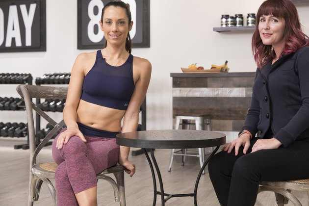 LIVESTRONG GM Jess Barron and Beachbody trainer Autumn Calabrese