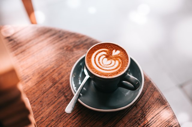 bright cup of coffee