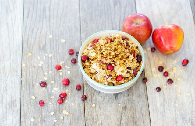 Cranberry Crumble Oatmeal