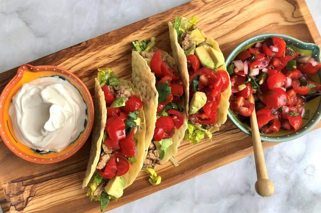 Chili-Lime Turkey Tacos With Monterey Jack Shells