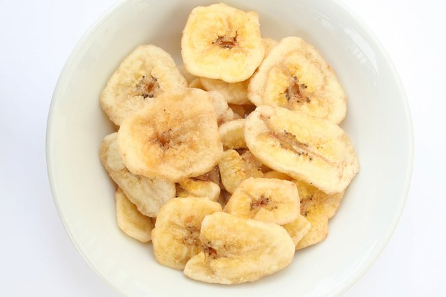 Banana Chips in white bowl