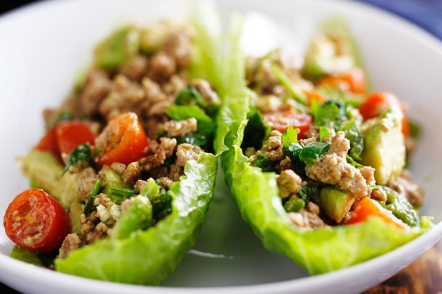 Avocado Turkey Meat in Lettuce Wraps