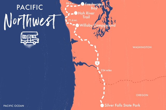 Map of Pacific Northwest