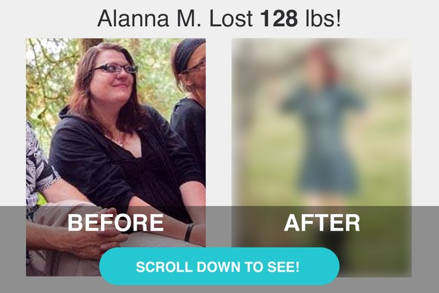 Alanna's before and after photos.