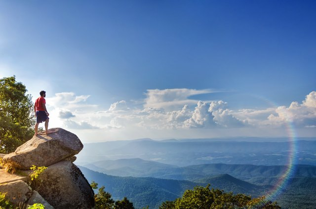 View looking out over Blue Ridge Mountains
