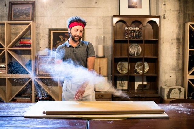 Francesco Allegro making pasta at Rossoblu