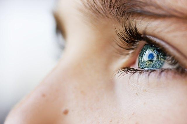 insightful look blue eyes boy and swollen eyelid