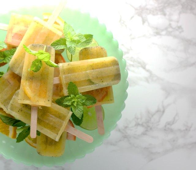 Citrus mojito Popsicles