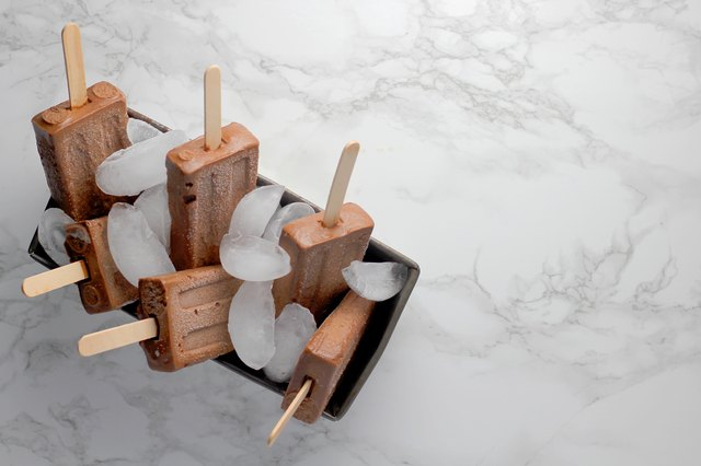 Chocolate Almond Butter Banana Popsicles