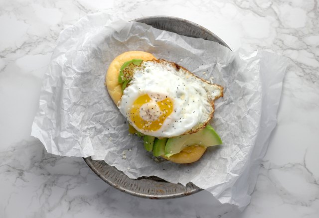 """Fried egg with """"Everything"""" spice avocado toast"""