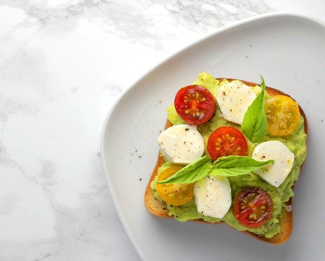 Caprese avocado toast on keto bread
