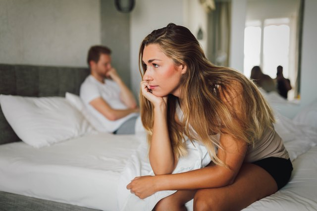 Couple having problems in relationship