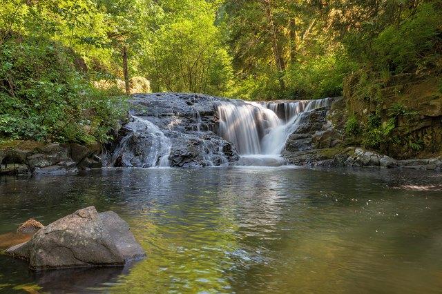 Waterfall along Sweet Creek Hiking Trail