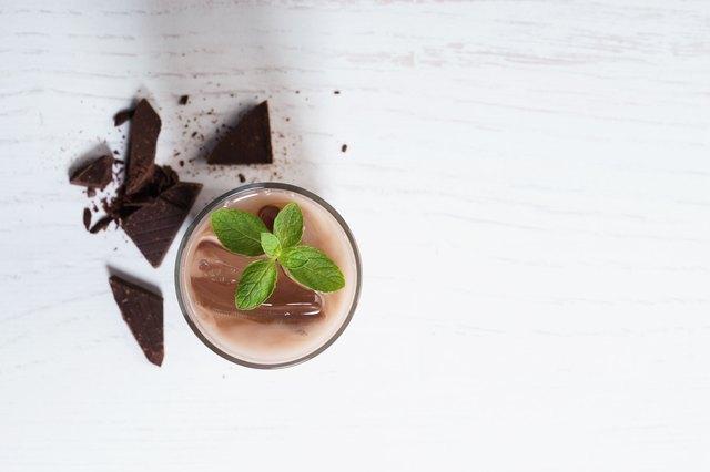glass of iced chocolate
