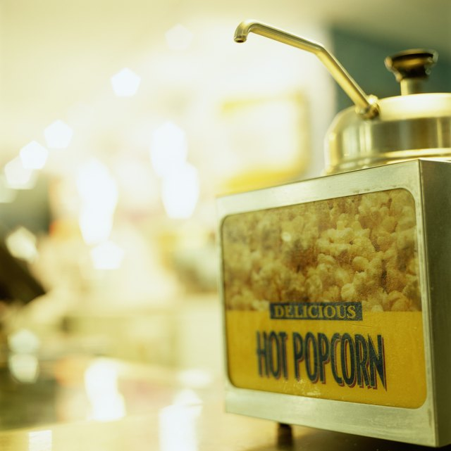Popcorn at a Movie Theater Concession Stand