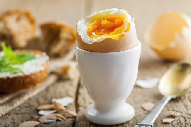 Traditional breakfast with perfect soft boiled egg