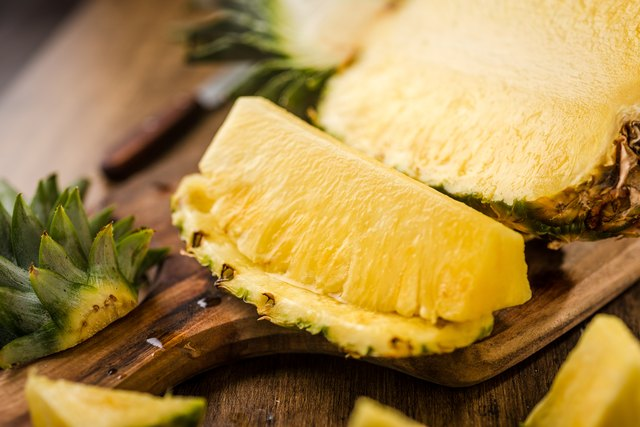 Sliced Pineapple on Chopping Board for muscle building diet