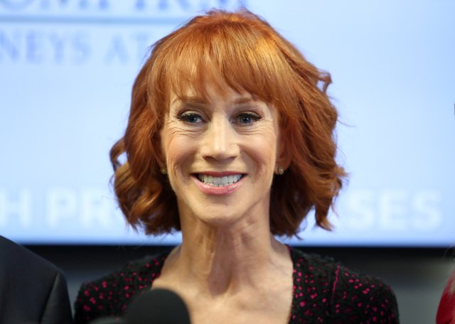 Kathy Griffin and her attorney Lisa Bloom hold press conference