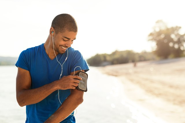Choosing his favorite workout music