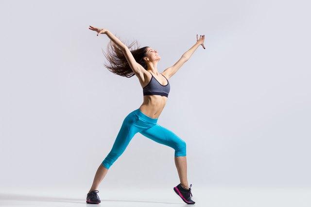 Fitness girl dancing
