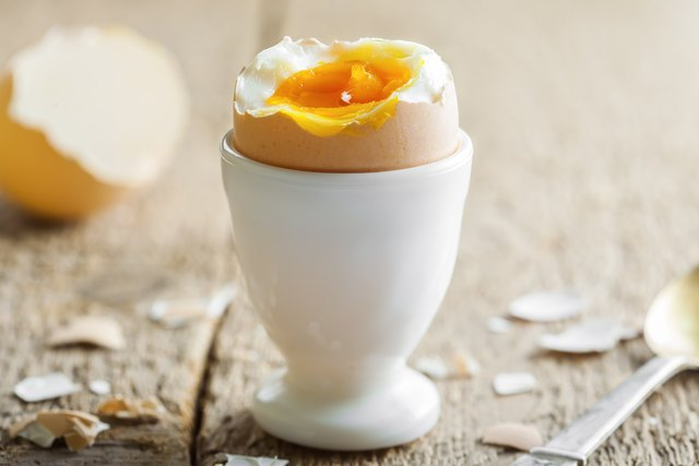 Perfect soft-boiled egg for breakfast