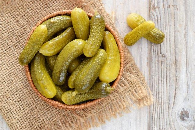 Pickles or cucumber cornichons