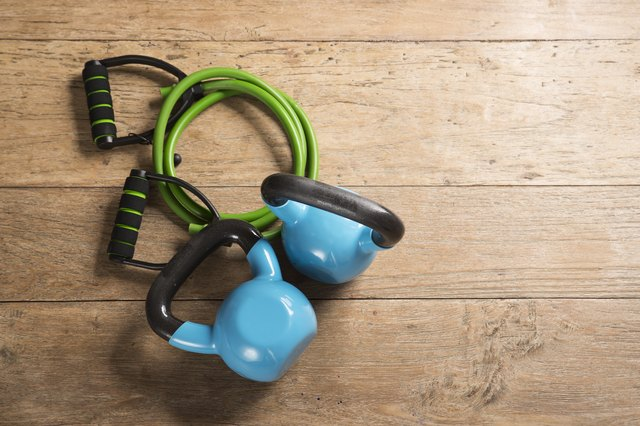 This 20-Minute Workout Combines Resistance Bands and Kettlebells