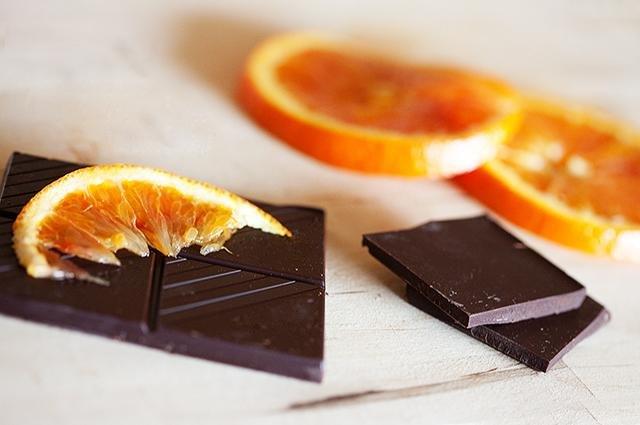Chocolate with orange.