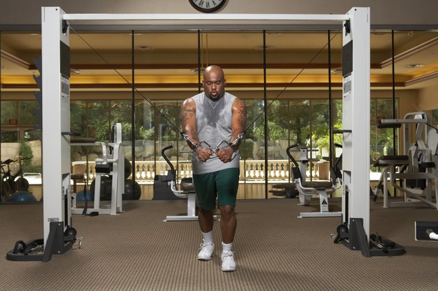 Man doing exercise in gym