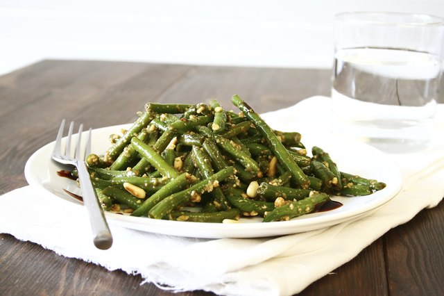 Glazed Green Bean Salad with Pine Nuts
