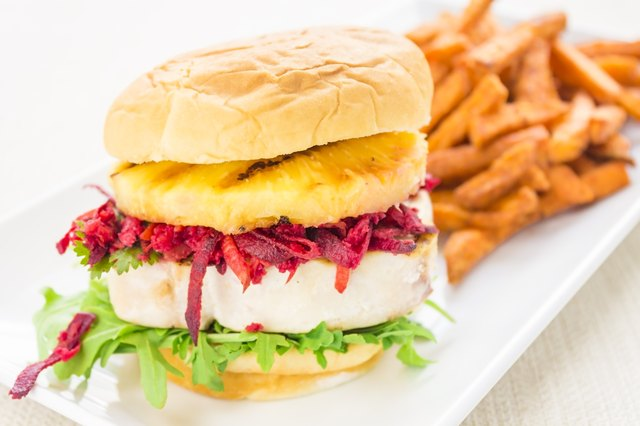 Hawaiian Tuna Burger