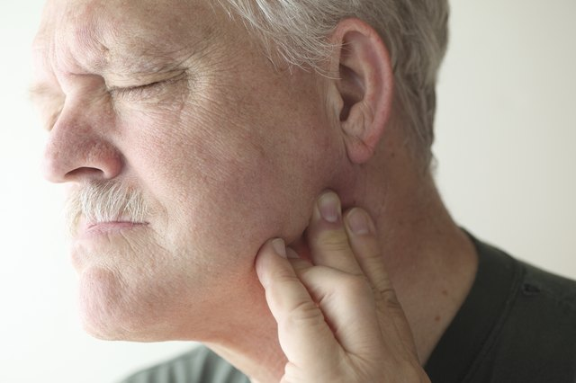 Older man with painful jaw
