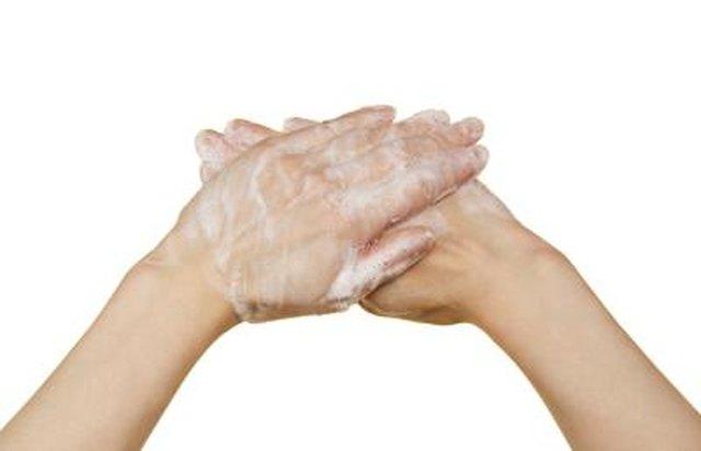 Glycerin on hands.