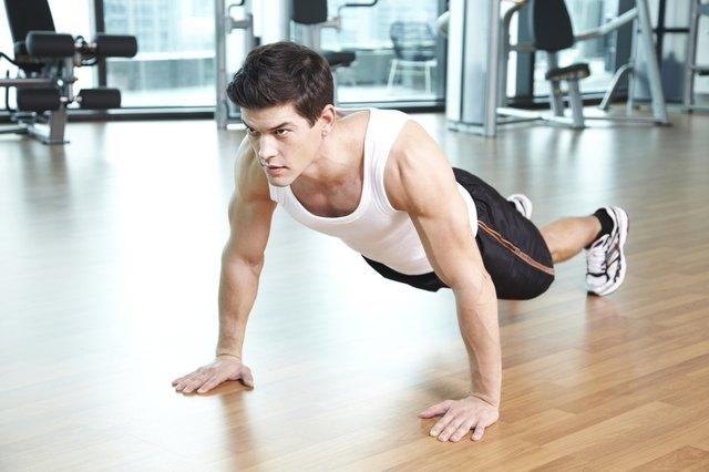 man doing push-up
