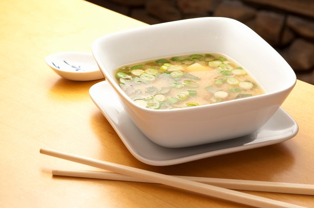 Delicious bowl of japanese Miso Soup